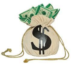 bag full of $100 bills