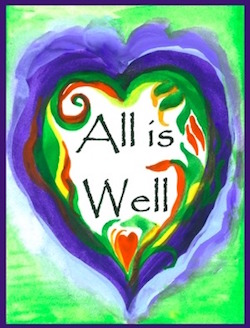 heart with All is Well written inside