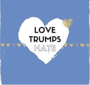 Love Trumps Hate inside a heart